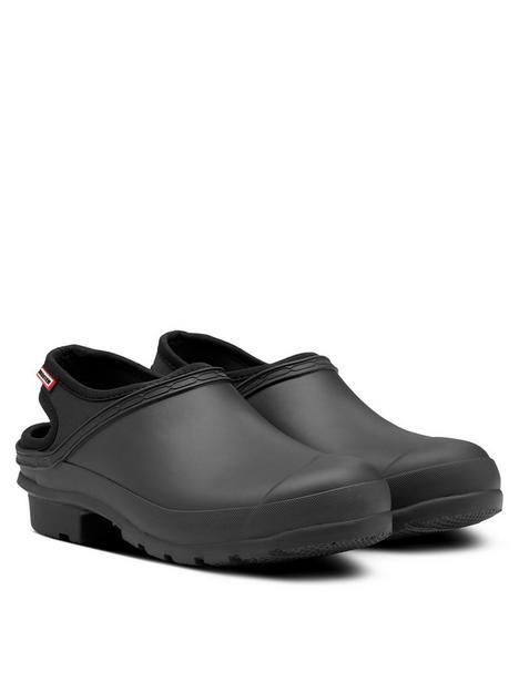 hunter-original-clog-flat-shoe-black