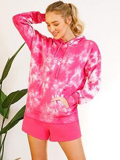 chelsea-peers-tie-dyenbsploungenbsphoodie-pink