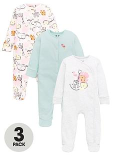 mini-v-by-very-baby-girls-3-pack-jungle-sleepsuits-multi