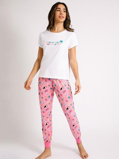chelsea-peers-tropic-like-its-hot-pyjama-set-pink