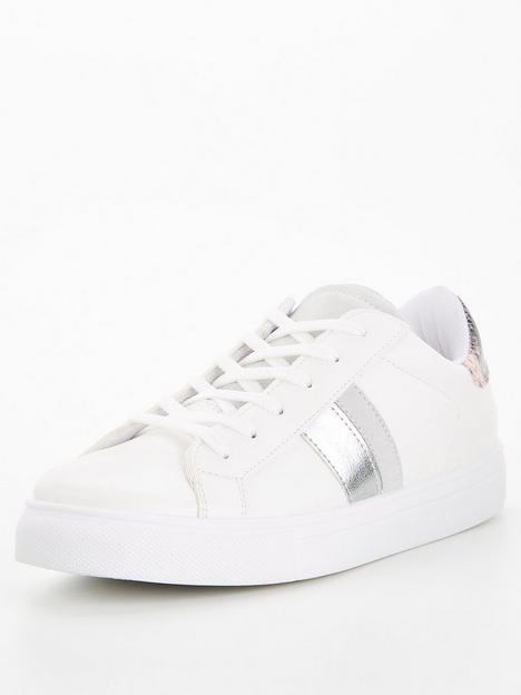 v-by-very-side-stripe-trainer-white