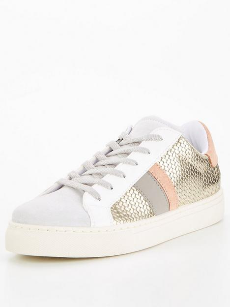 v-by-very-side-stripe-trainer-gold