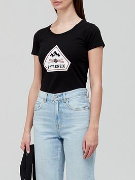 pyrenex-estela-logo-classic-fit-t-shirt-black