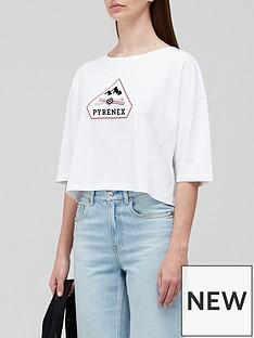 pyrenex-mary-cropped-logo-t-shirt-white