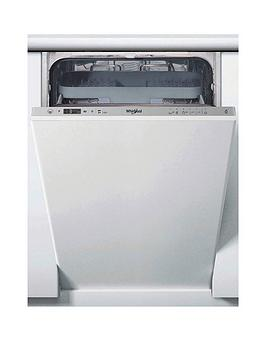 Whirlpool Wsic3M27Cukn Built-In 10-Place, Slimline Dishwasher - Stainless Steel - Dishwasher Only