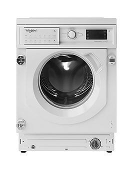 Whirlpool Biwmwg81484 Built-In 8Kg Load, 1400 Spin Washing Maching - White - Washing Machine Only
