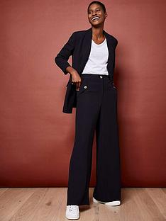 mint-velvet-button-detail-twill-wide-leg-trousers-navy