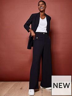 mint-velvet-button-detail-twill-wide-leg-trousers-navy