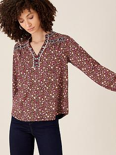 monsoon-floral-embroidered-long-sleeve-top-red