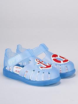 igor-unisexnbsptobby-nautical-jelly-sandals-blue