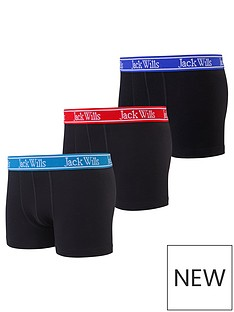 jack-wills-boys-3-pack-contrast-waistband-boxers-black