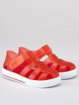 igor-boysnbspstar-jelly-sandals-red