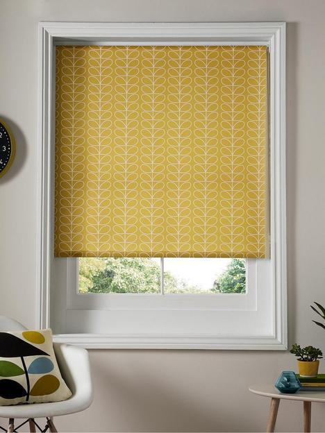 orla-kiely-house-linear-stem-dandelion-roller-blind-yellow