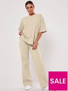 missguided-missguided-rib-t-shirt-wide-leg-coord-set-stone