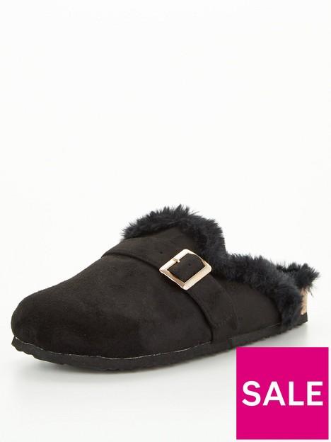 v-by-very-villa-mule-footbed-slipper-black