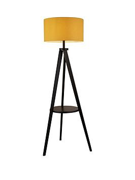 Wooden Floor Lamp With Shelving