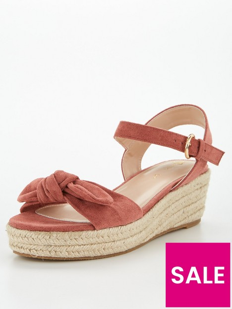v-by-very-bow-trim-low-wedge-sandal-pink