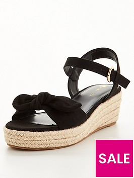 v-by-very-bow-trim-low-wedge-sandal-black