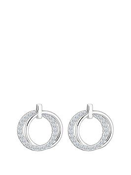 simply-silver-double-open-polished-and-cubic-zirconia-earrings