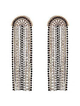 mood-gold-plated-jet-and-grey-diamante-chandelier-earrings