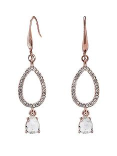mood-mood-rose-gold-plated-crystal-pave-pear-shape-drop-earring