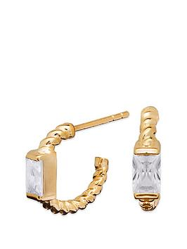 simply-silver-sterling-silver-925-12ct-yellow-gold-cubic-zirconia-baguette-twist-hoop-earrings