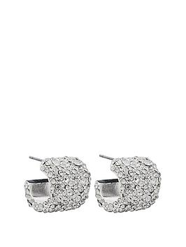 mood-mood-silver-plated-crystal-wide-pave-hoop-earrings
