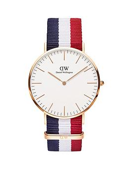 daniel-wellington-daniel-wellington-cambridge-white-and-rose-gold-detail-40mm-dial-red-white-and-blue-stripe-nato-strap-watch