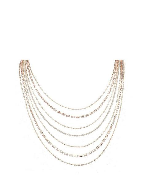 mood-rose-gold-plated-crystal-multi-row-diamante-necklace