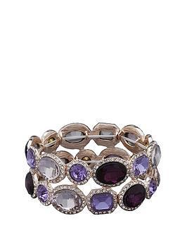 mood-mood-rose-gold-plated-tonal-purple-stretch-bracelet