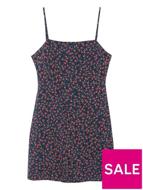 mango-teen-girls-strappy-floral-dress-black