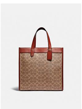 coach-field-coated-canvas-signature-and-carriage-print-tote-bag-tan
