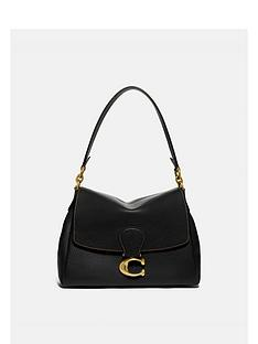 coach-may-soft-pebble-leather-shoulder-bag-black