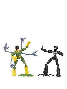 marvel-marvel-spider-man-bend-and-flex-black-suit-spider-man-vs-doc-ock-action-figure-toys-6-inch-flexible-figures-for-kids-ages-4-and-up