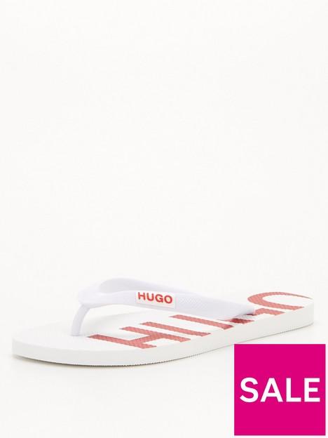 hugo-logo-flip-flop-white