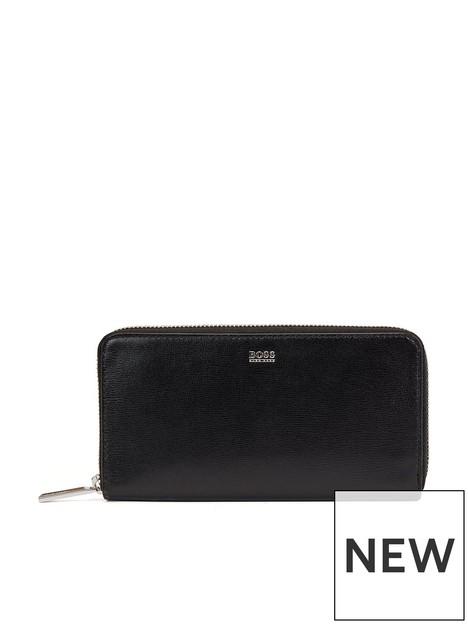 boss-nathalie-leathernbspzip-around-purse--nbspblack