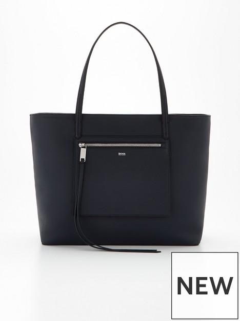boss-carrie-leathernbspshopper-bag--nbspblack