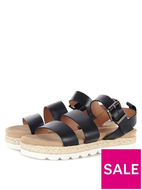 barbour-leathernbspgabbie-sandal-black