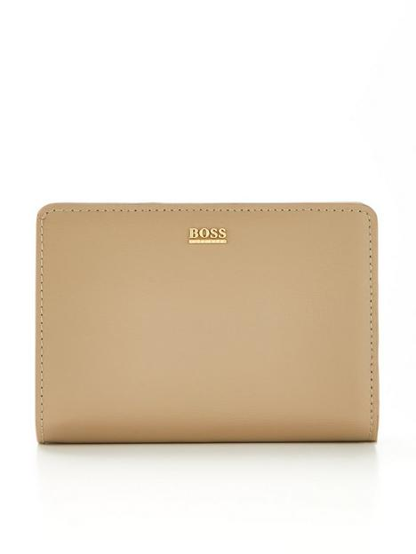 boss-nathalie-small-leather-purse-stone