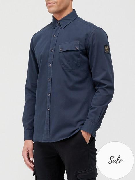 belstaff-pitch-oxford-shirt-navy