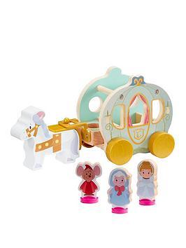 disney disney princess wooden cinderella pumpkin carriage set, one colour