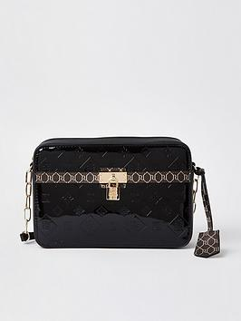 river-island-monogram-patent-punbsppadlock-boxy-cross-body-bag-black