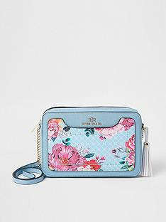 river-island-floral-monogram-boxy-crossbody-bag-blue