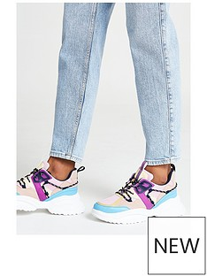 river-island-chunky-colour-mix-lace-up-trainer-multi