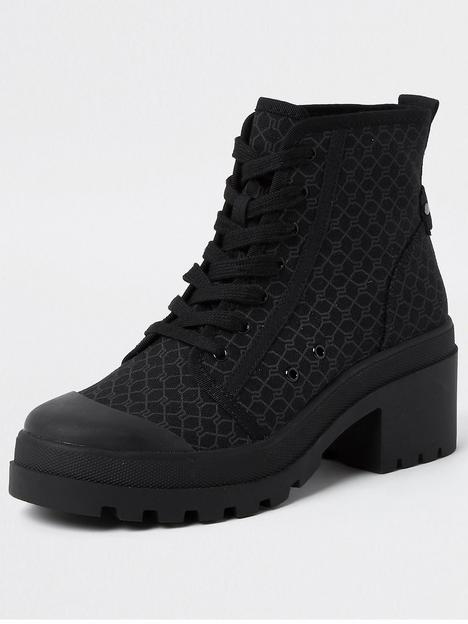 river-island-chunky-heel-lace-up-boot-black