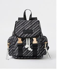 river-island-branded-casual-backpack-black
