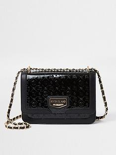river-island-embossed-satchel-black