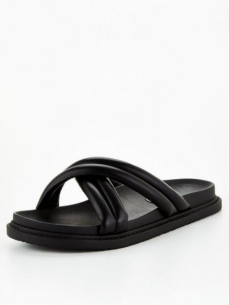 v-by-very-clown-padded-footbed-slider-black