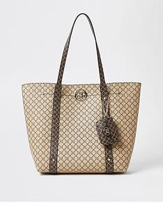 river-island-monogram-shopper-with-pouch-brown