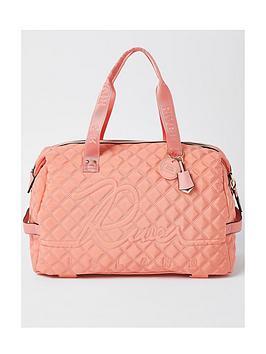 river-island-branded-gym-bag-coral